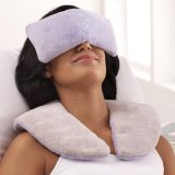 Lavender aromatherapy neck wrap and eye pillow combination