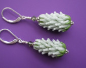 Lavender Glass Beads Earrings