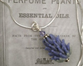 Lavender Glass Bead Necklace
