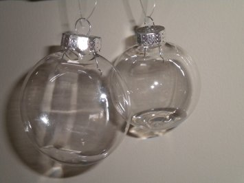fillable balls for homemade Christmas ornaments