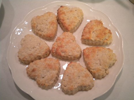 Golden Lavender Scones Fresh From the Oven
