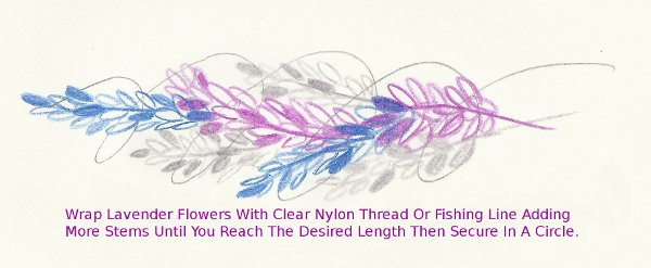 Wrapping Lavender Flowers with Nylon Twine