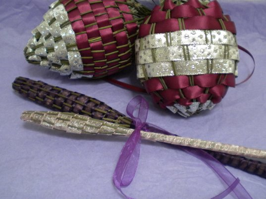 Lavender Stalk Christmas Ornaments