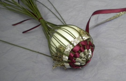 Weaving Ribbons Christmas Ornament