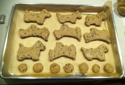Cutout Homemade Lavender Dog Treats