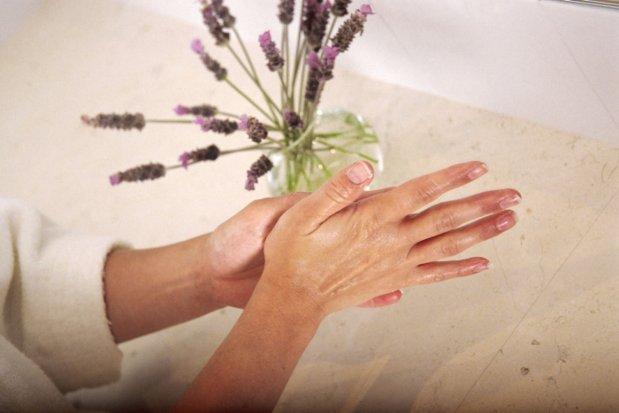 Easy Lavender Hand Scrub, Homemade Sugar Scrub